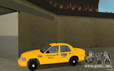 Ford Crown Victoria Taxi para GTA Vice City left