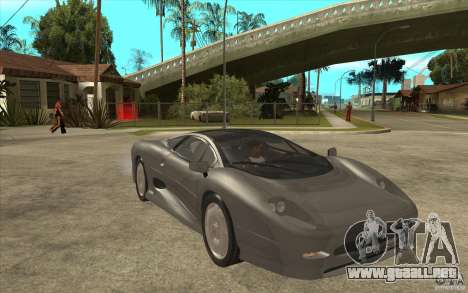 Jaguar XJ 220 para GTA San Andreas vista hacia atrás
