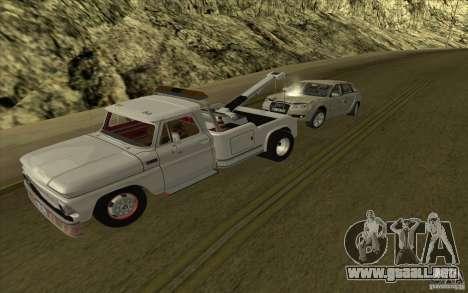 Camión de remolque Chevrolet para GTA San Andreas left