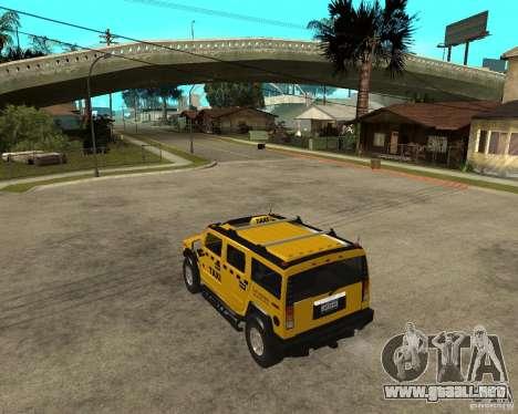 AMG H2 HUMMER TAXI para GTA San Andreas left