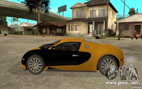 Bugatti Veyron v1.0 para GTA San Andreas left