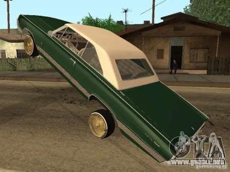 Mercury Park Lane Lowrider para GTA San Andreas vista hacia atrás