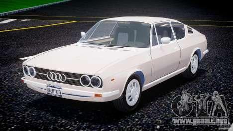 Audi 100 Coupe S para GTA 4 vista hacia atrás