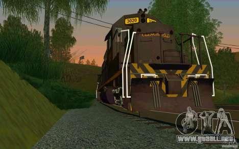 Clinchfield sd40 para la visión correcta GTA San Andreas