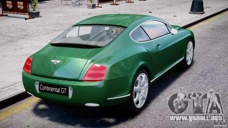 Bentley Continental GT para GTA 4 vista desde abajo