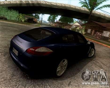 Porsche Panamera Turbo 2010 Final para GTA San Andreas vista hacia atrás