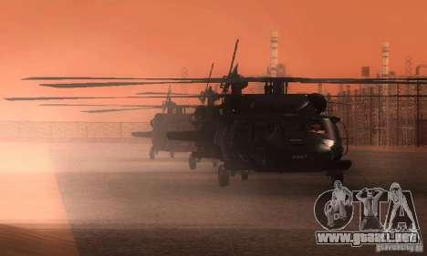 UH-60M Black Hawk para la vista superior GTA San Andreas
