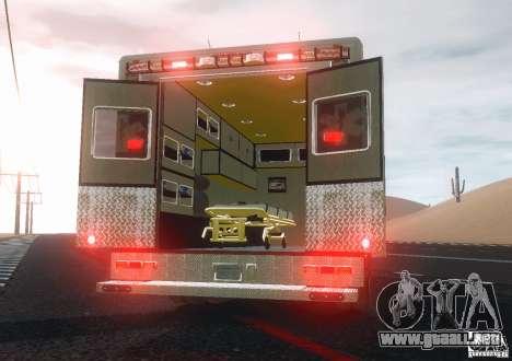 Ford F350 FDLC Ambulance v3.0 ELS para GTA 4 visión correcta