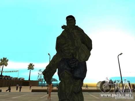 Hulk Skin para GTA San Andreas segunda pantalla