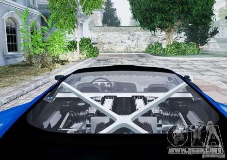 Jaguar XJ 220 para GTA 4 vista hacia atrás