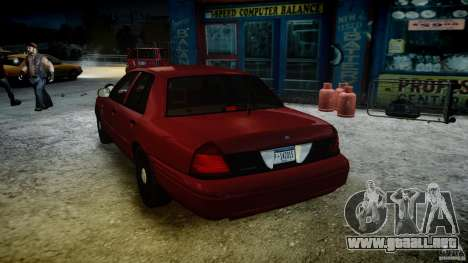 Ford Crown Victoria Detective v4.7 red lights para GTA 4 vista desde abajo