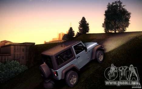 Jeep Wrangler Rubicon 2012 para GTA San Andreas left