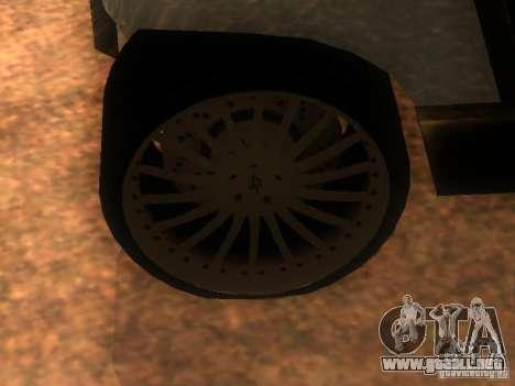 CARRITO restyling v1.0 para GTA San Andreas vista hacia atrás