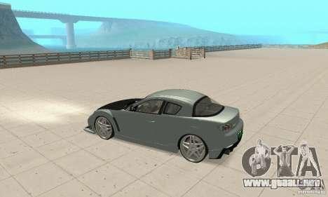 Mazda RX-8 Tuning para visión interna GTA San Andreas