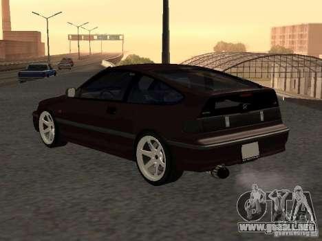 Honda Civic CRX JDM para GTA San Andreas vista hacia atrás