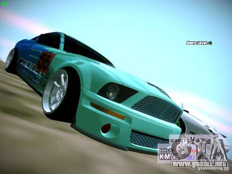 Ford Shelby GT500 Falken Tire Justin Pawlak 2012 para la visión correcta GTA San Andreas