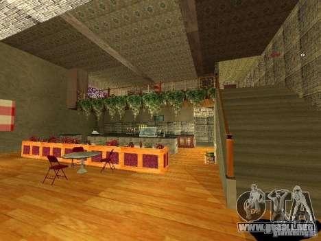 Bistro de Marco interior nuevo para GTA San Andreas quinta pantalla