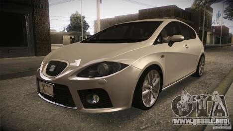 Seat Leon Cupra para visión interna GTA San Andreas
