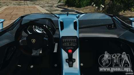 Lamborghini Aventador J 2012 v1.2 para GTA 4 vista hacia atrás