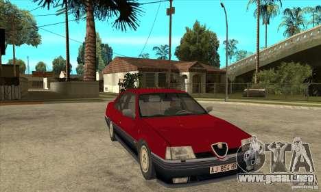 Alfa Romeo 164 para GTA San Andreas vista hacia atrás
