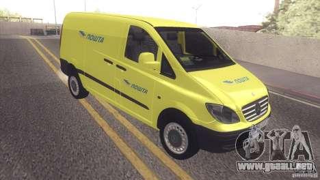 Mercedes Benz Vito Pošta Srbije para GTA San Andreas left