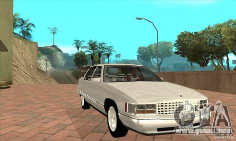 Cadillac Deville v2.0 1994 para GTA San Andreas vista hacia atrás