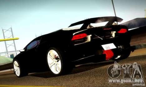 Lamborghini Sesto Elemento para GTA San Andreas vista hacia atrás