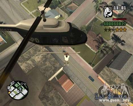 Helicóptero Zaprygivayem para GTA San Andreas tercera pantalla