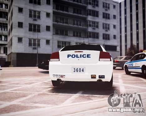 Dodge Charger 2010 NYPD ELS para GTA 4 visión correcta