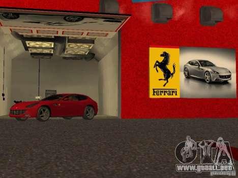 Nuevo Showroom de Ferrari en San Fierro para GTA San Andreas octavo de pantalla