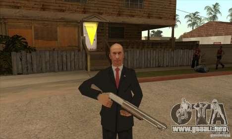 Vladimir Vladimirovich Putin para GTA San Andreas quinta pantalla