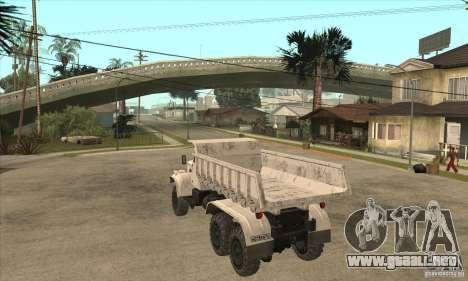 Camión KRAZ 225 para la visión correcta GTA San Andreas