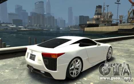 Lexus LFA v1.0 para GTA 4 visión correcta
