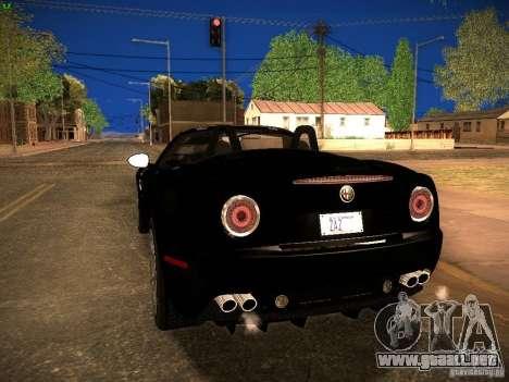 Alfa Romeo 8C Spider 2012 para GTA San Andreas vista posterior izquierda
