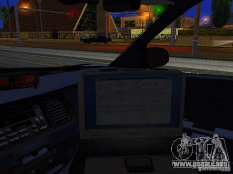 Ford Crown Victoria Erie County Sheriffs Office para visión interna GTA San Andreas