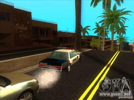 Dodge Diplomat 1985 LAPD Police para GTA San Andreas vista hacia atrás