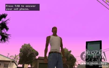 Teléfono de GTA IV para GTA San Andreas segunda pantalla