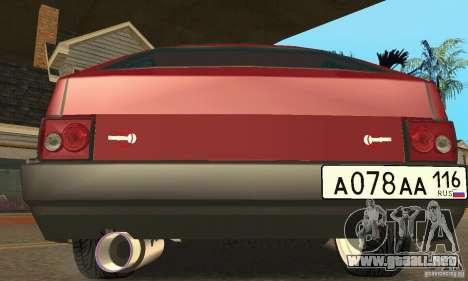 VAZ 2108 Maxi para GTA San Andreas vista posterior izquierda