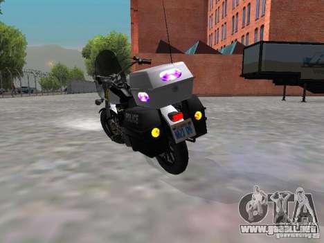Harley Davidson Dyna Defender para la visión correcta GTA San Andreas