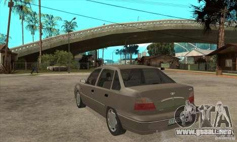 Daewoo Nexia Dohc 2009 para GTA San Andreas vista posterior izquierda