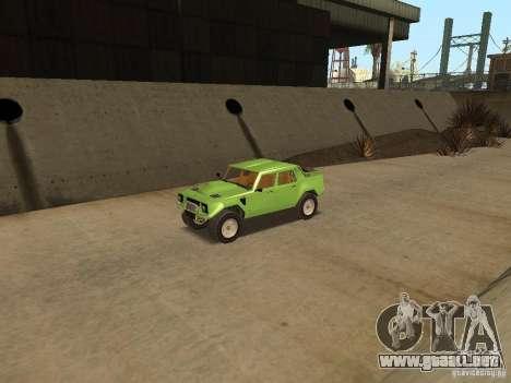 Lamborghini LM-002 v2 para GTA San Andreas vista hacia atrás
