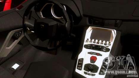 Lamborghini Aventador LP-700 J para vista lateral GTA San Andreas