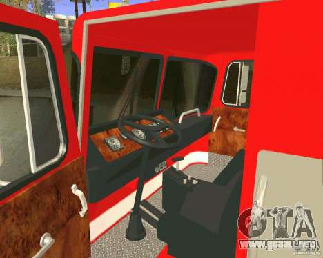 Pumper Firetruck Los Angeles Fire Dept para vista lateral GTA San Andreas