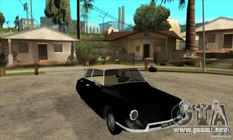 Citroen ID 19 para visión interna GTA San Andreas