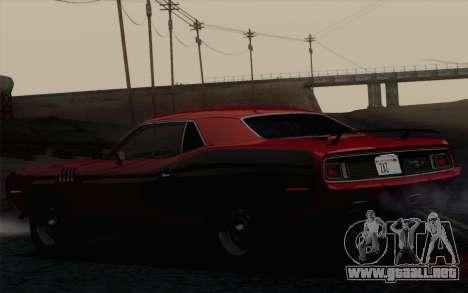 Plymouth Hemi Cuda 426 1971 para GTA San Andreas vista hacia atrás