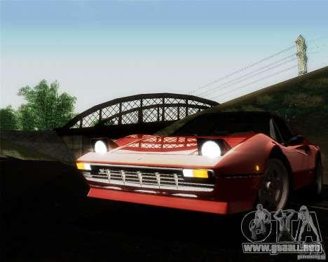 Ferrari 308 GTS Quattrovalvole para la vista superior GTA San Andreas