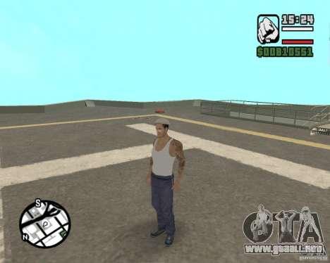 CJ Gopnik para GTA San Andreas quinta pantalla