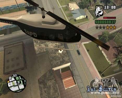 Helicóptero Zaprygivayem para GTA San Andreas segunda pantalla