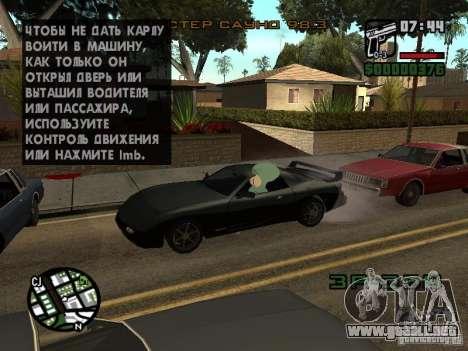 Calamardo para GTA San Andreas novena de pantalla
