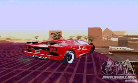 Lamborghini Diablo SV 1997 para GTA San Andreas vista hacia atrás